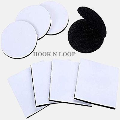 hook n loop tape coins squares